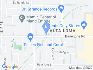 Map of Country Waggin Resort and Groom Dog Boarding options in Alta Loma | Boarding
