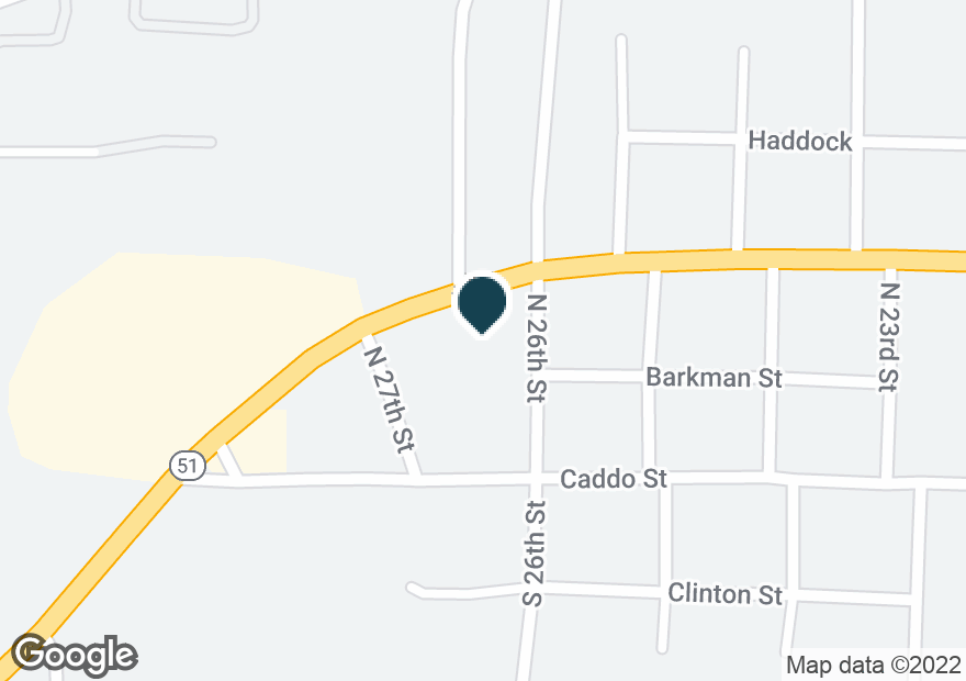Google Map of131 N 26TH ST