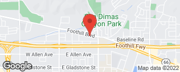 Map of 554 E Foothill Blvd in San Dimas