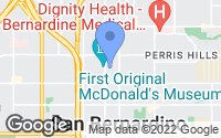 Map of San Bernardino, CA