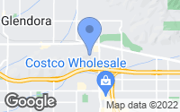 Map of Glendora, CA