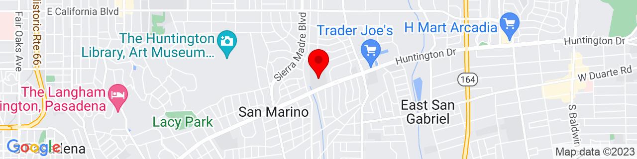Google Map of 34.126075, -118.098774