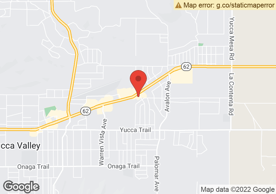 Google Map of 58133 29 PALMS HWY