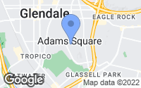 Map of Glendale, CA
