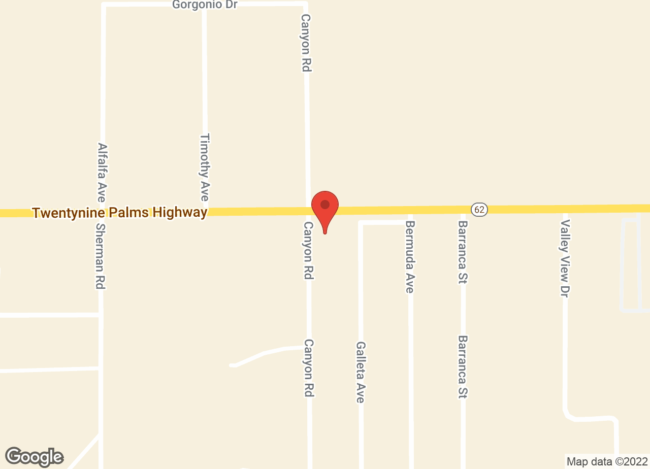 Google Map of VCA 29 Palms Animal Hospital