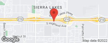 Map of 16570 S Highland Ave in Fontana