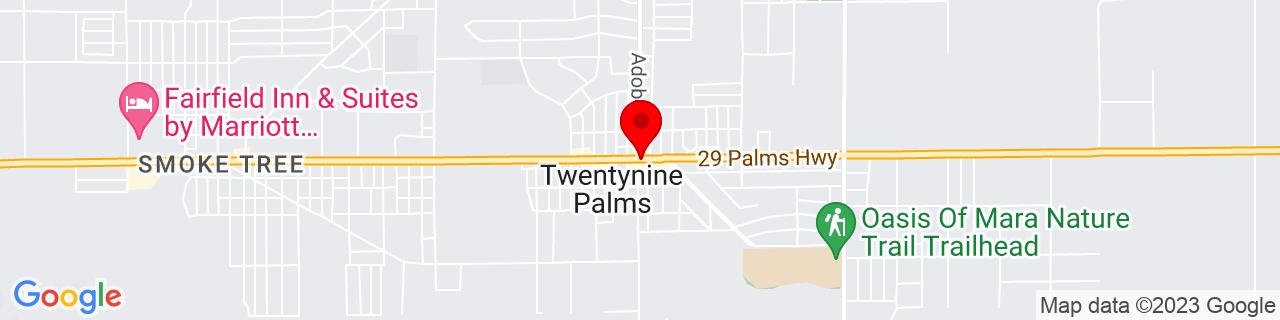 Google Map of 34.1355582, -116.0541689