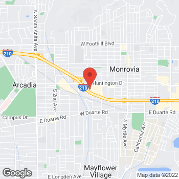 Map of Bed Bath & Beyond at 650 West Huntington Drive, Monrovia, CA 91016