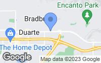 Map of Duarte, CA