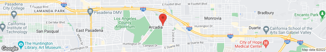 Map of 7 East Huntington Dr in Arcadia