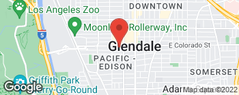 Map of 318 W Colorado St in Glendale