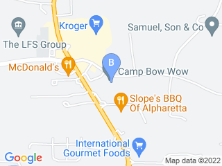 Map of Camp Bow Wow Dog Boarding Alpharetta Dog Boarding options in Alpharetta | Boarding