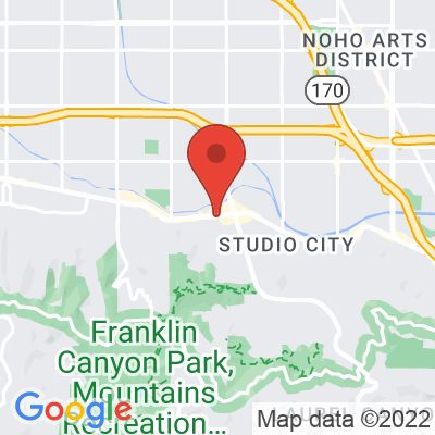 Map showing Bluestone Lane (Studio City)