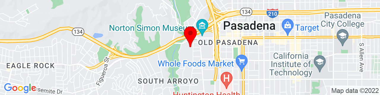 Google Map of 34.1435517, -118.1626879