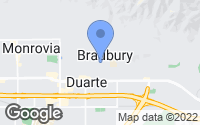 Map of Bradbury, CA