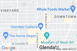 Glendale Mattress Store Location Map