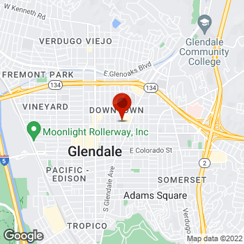 Map of Staples® Print & Marketing Services at 213 North Glendale Ave., Glendale, CA 91206