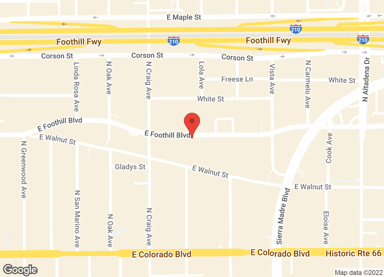 Google Map of VCA Foothill Veterinary Hospital