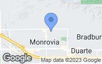 Map of Monrovia, CA