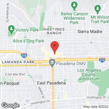 Map of Rite Aid at 3745 East Foothill Boulevard, Pasadena, CA 91107