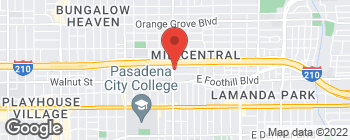 Map of 296 N Allen Ave in Pasadena