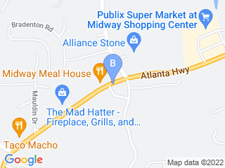 Map of The Barker Lounge Dog Boarding options in Alpharetta | Boarding