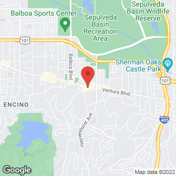 Map of Panera Bread at 16624 Ventura Blvd, Encino, CA 91436