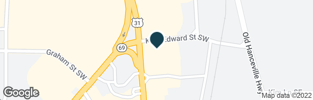 Google Map of1700 2ND AVE SW
