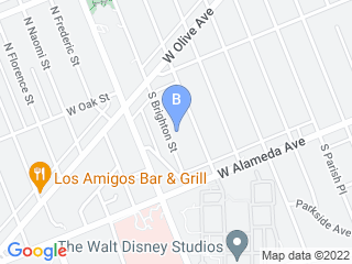Map of Doggie Spa On Wheels Dog Boarding options in Burbank | Boarding