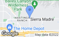Map of Sierra Madre, CA