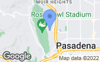 Map of Pasadena, CA