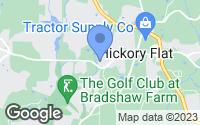 Map of Holly Springs, GA
