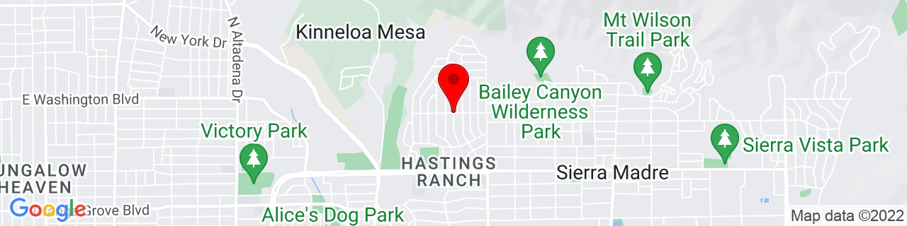 Google Map of 34.1676415, -118.0721319
