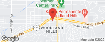 Map of 22110 Clarendon St in Woodland Hills