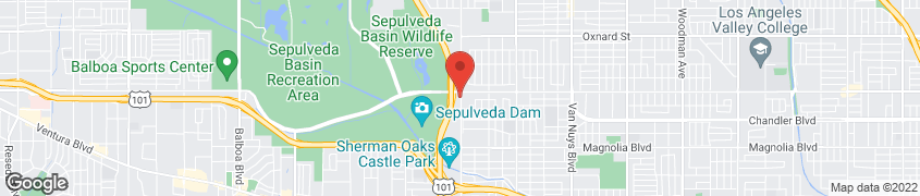 Map of 5525 N Sepulveda Blvd in Sherman Oaks