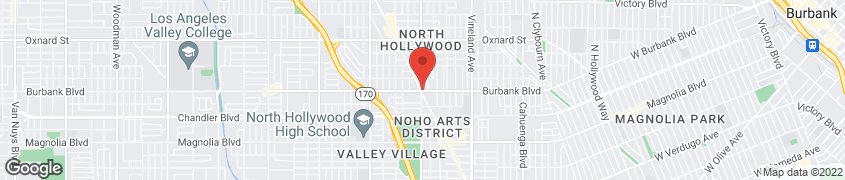 Map of 11377 Burbank Blvd. in No Hollywood