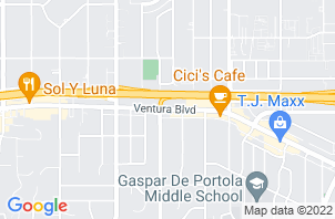 Tarzana Mattress Store and Clearance Center Location Map