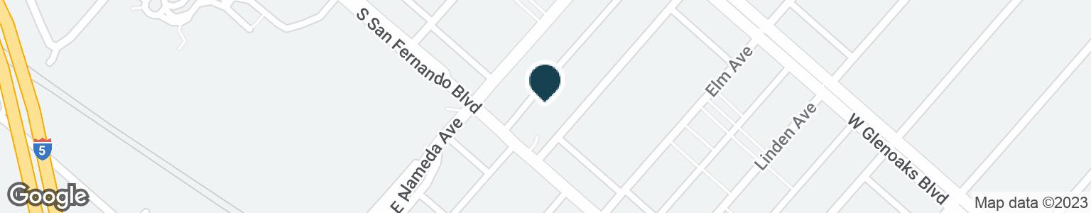 Google Map of1028 S SAN FERNANDO BLVD