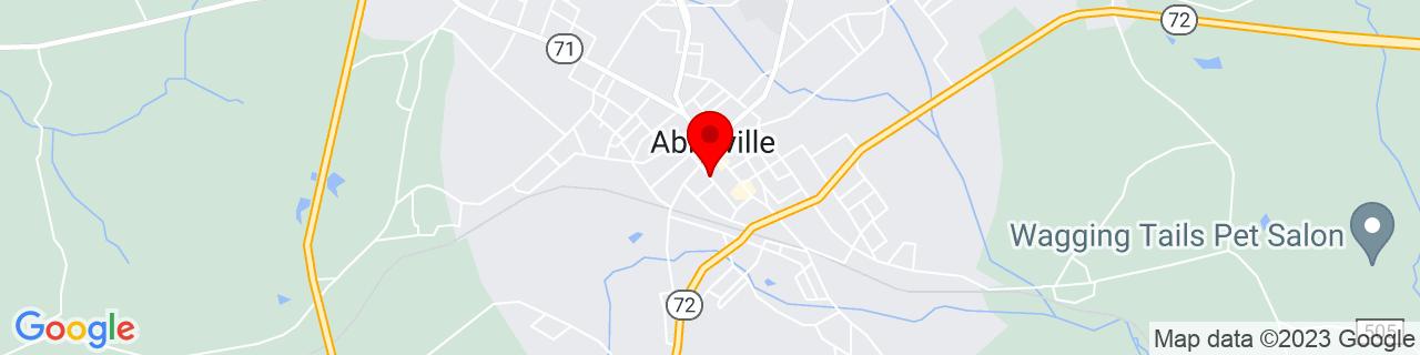 Google Map of 34.17591, -82.3792931