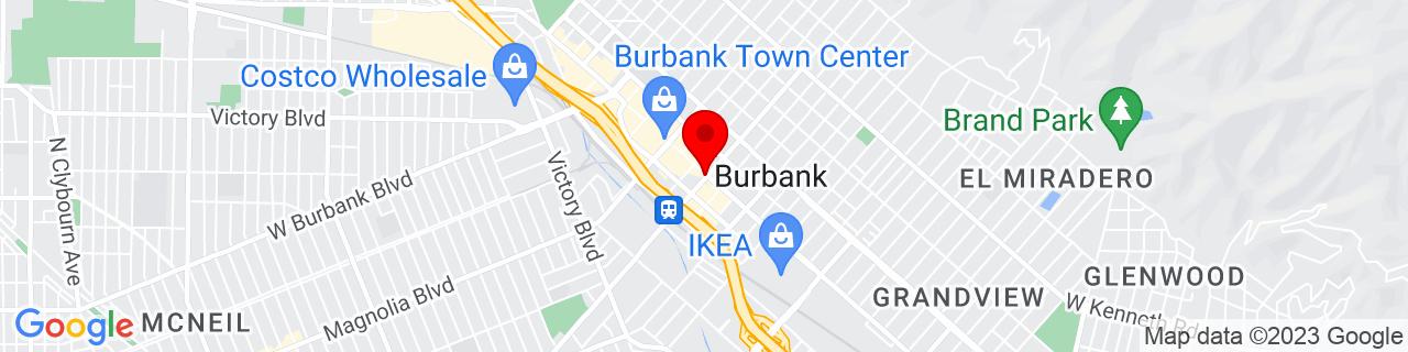 Google Map of 34.18084, -118.30897