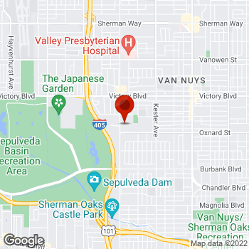 Map of Staples® Print & Marketing Services at 6104 Sepulveda Blvd., Van Nuys, CA 91411