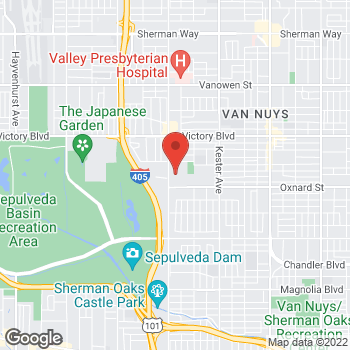 Map of Staples at 6104 Sepulveda Blvd., Van Nuys, CA 91411
