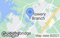 Map of Flowery Branch, GA