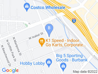 Map of The Dog House Burbank Dog Boarding options in Burbank | Boarding