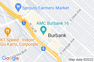 Burbank Mattress Store   Location Map