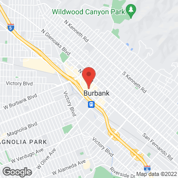Map of Bed Bath & Beyond at 201 East Magnolia Boulevard, Burbank, CA 91501