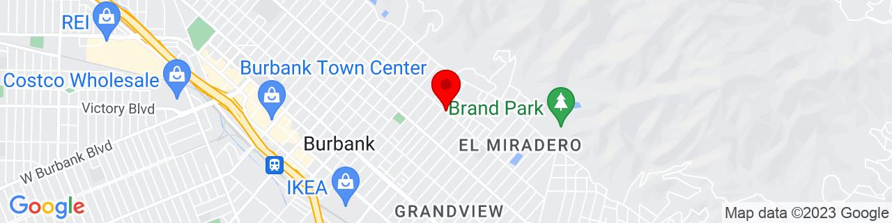 Google Map of 34.1840959, -118.290627