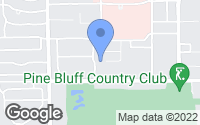Map of Pine Bluff, AR