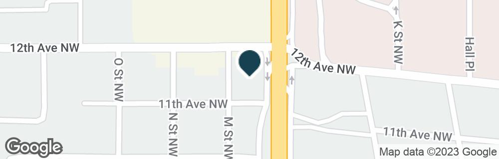 Google Map of1111 N COMMERCE ST