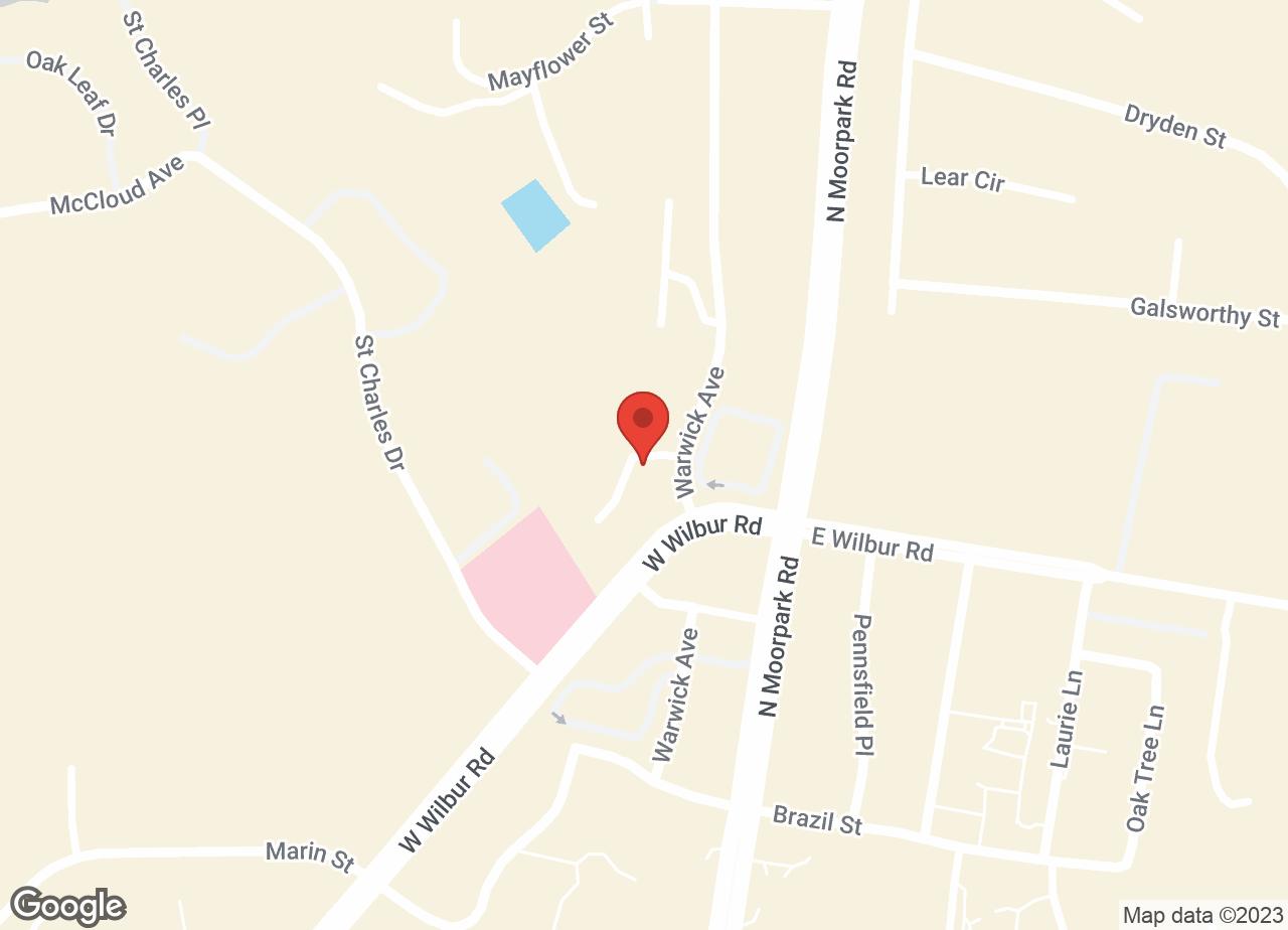 Google Map of VCA Camino Animal Hospital